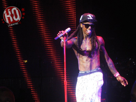 Pictures Of Lil Wayne Performing In Michigan On I Am Still Music Tour