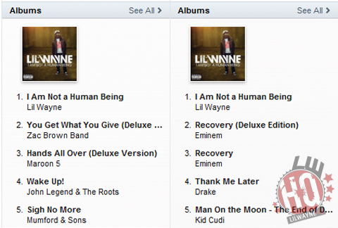Lil Waynes I Am Not A Human Being Already 1 On iTunes