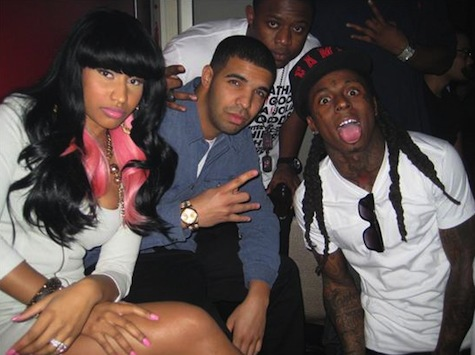 Lil Wayne Parties With Drake & Nicki Minaj At PLAY