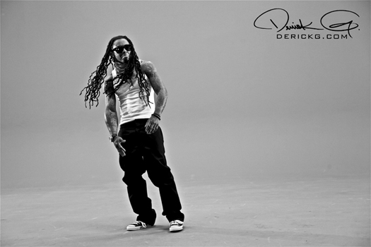 Lil Wayne On Set Of Ace Hoods Hustle Hard Remix Video Shoot