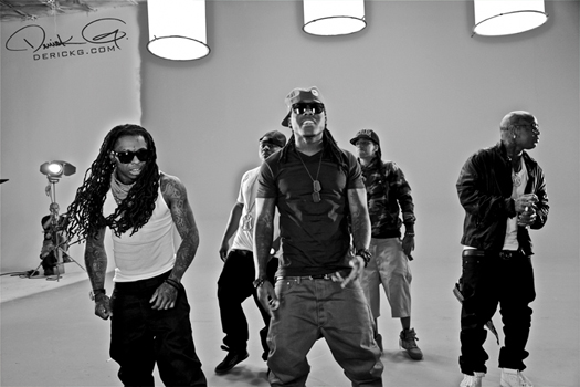 Lil Wayne On Set Of Ace Hoods Hustle Hard Remix Video Shoot