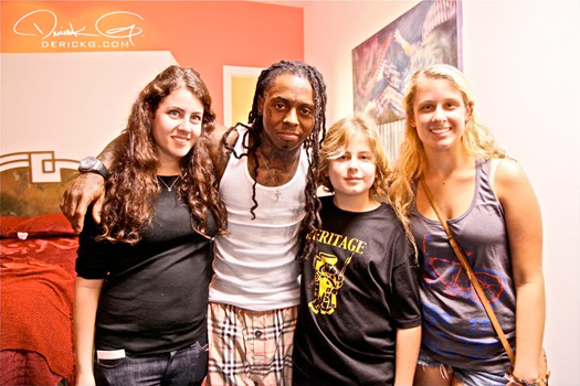 Pictures Of Lil Wayne On The Set For Young Moneys Bed Rock Video Shoot
