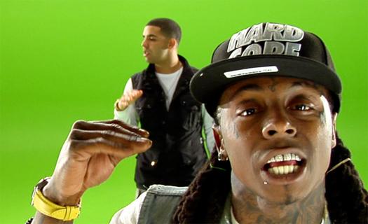 Lil Wayne & Drake On The Set Of Miss Me Music Video