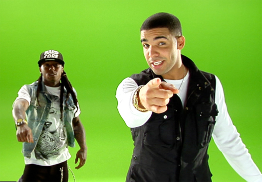Lil Wayne & Drake On The Set Of Miss Me Music Video