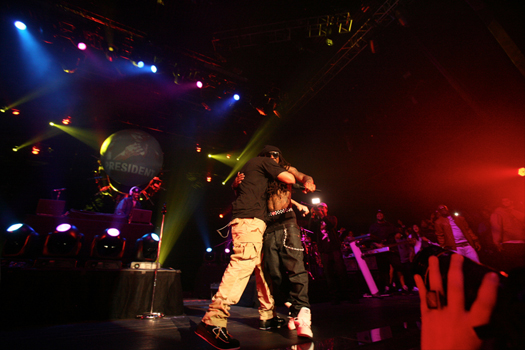 Pictures Of Lil Wayne & Drake Performing In Las Vegas