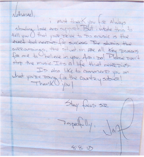 Lil Wayne Sends A Letter To A Soldier