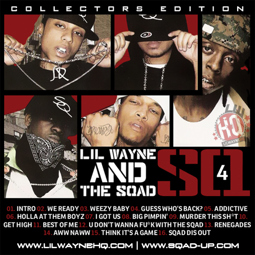 Sqad Up SQ4 Mixtape Front Cover