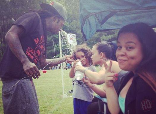 Lil Wayne With Dwayne Michael Carter III & Sarah Vivan