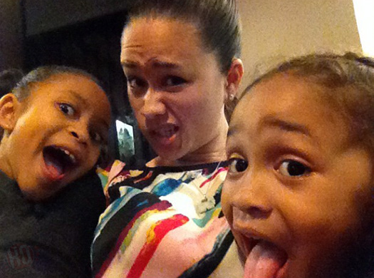 Lil wayne s baby mother sarah vivan with her two children dwayne