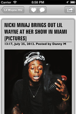 Lil Wayne HQ App Screenshot