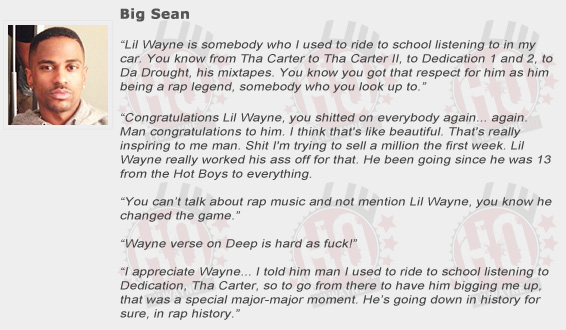 Big Sean Compliments Lil Wayne