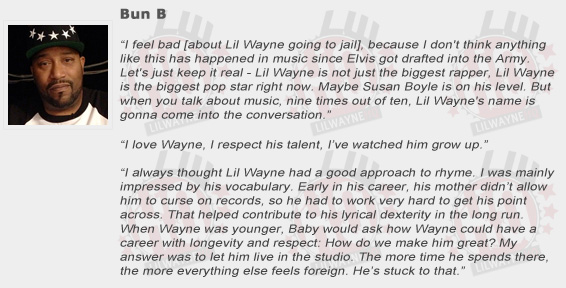 Bun B Compliments Lil Wayne
