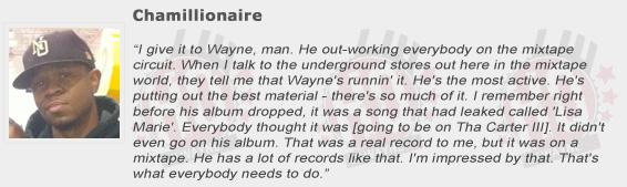 Chamillionaire Compliments Lil Wayne
