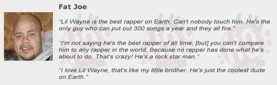 Fat Joe Compliments Lil Wayne