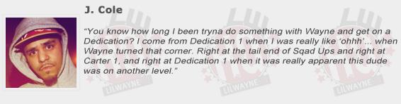 J Cole Compliments Lil Wayne