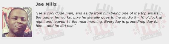 Jae Millz Compliments Lil Wayne