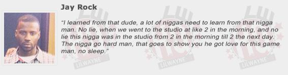 Jay Rock Compliments Lil Wayne