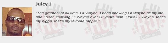 Juicy J Compliments Lil Wayne