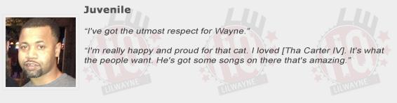 Juvenile Compliments Lil Wayne