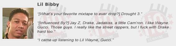 Lil Bibby Compliments Lil Wayne