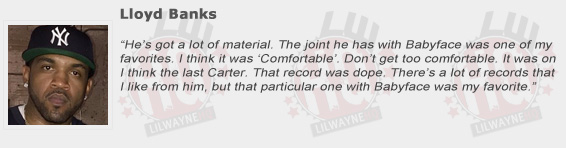 Lloyd Banks Compliments Lil Wayne