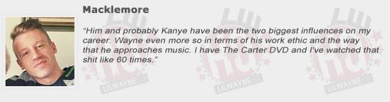 Macklemore Compliments Lil Wayne