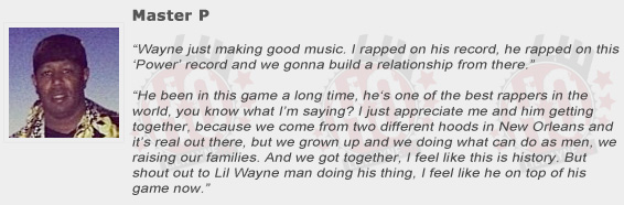 Master P Compliments Lil Wayne