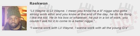 Raekwon Compliments Lil Wayne