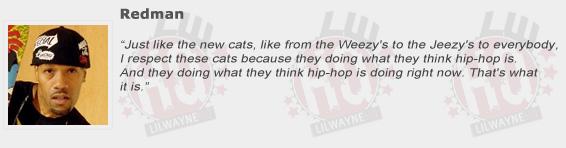 Redman Compliments Lil Wayne