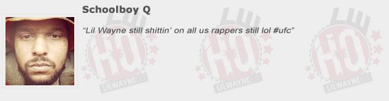 Schoolboy Q Compliments Lil Wayne