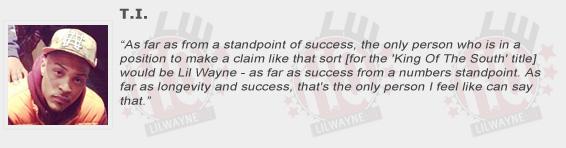 T.I. Compliments Lil Wayne