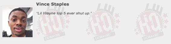 Vince Staples Compliments Lil Wayne