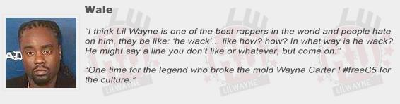 Wale Compliments Lil Wayne