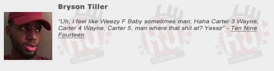 Bryson Tiller Shouts Out Lil Wayne