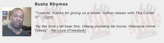 Busta Rhymes Shouts Out Lil Wayne