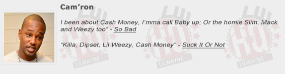 Camron Shouts Out Lil Wayne