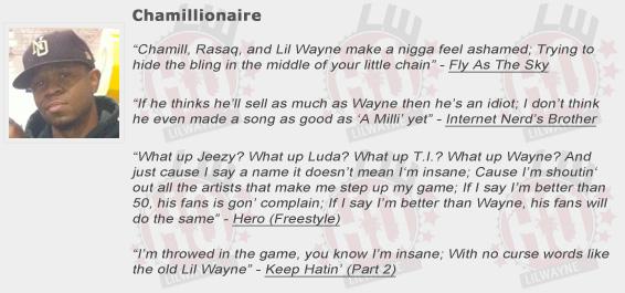 Chamillionaire Shouts Out Lil Wayne