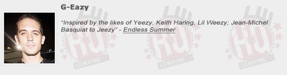 G-Eazy Shouts Out Lil Wayne