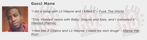 Gucci Mane Shouts Out Lil Wayne