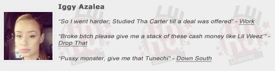 Iggy Azalea Shouts Out Lil Wayne