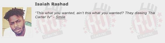 Isaiah Rashad Shouts Out Lil Wayne