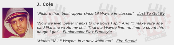 J. Cole Shouts Out Lil Wayne