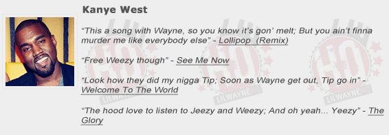 Kanye West Shouts Out Lil Wayne
