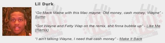 Lil Durk Shouts Out Lil Wayne