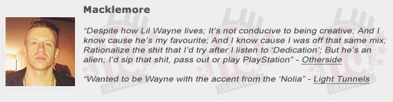 Macklemore Shouts Out Lil Wayne