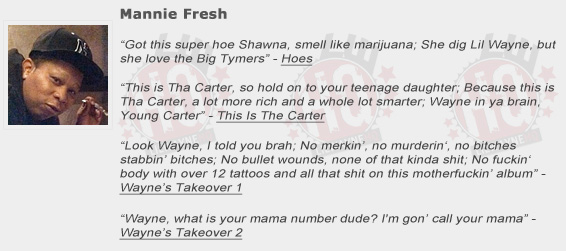 Mannie Fresh Shouts Out Lil Wayne