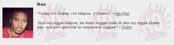 Nas Shouts Out Lil Wayne