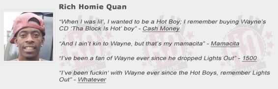 Rich Homie Quan Shouts Out Lil Wayne