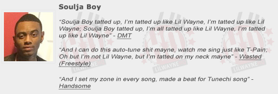 Soulja Boy Shouts Out Lil Wayne