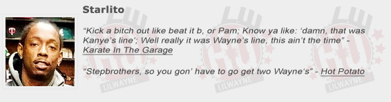 Starlito Shouts Out Lil Wayne